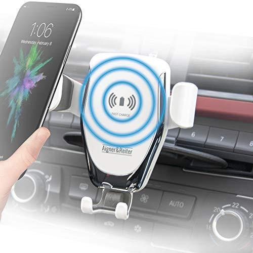 Handyhalterung Auto mit Ladefunktion für den CD Schlitz   KFZ Handy Halterung incl Induktion Wireless Charger für den CD Schacht   für alle iPhone, Samsung Galaxy, Huawei, LG, usw mit Qi Standard