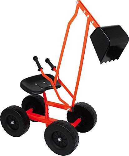 small foot 4628 Bagger mit Schaufel und Rädern für Kinder, Sandspielzeug / Strandspielzeug, 360° drehbar, ab 3 Jahren