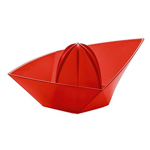 koziol Orangenpresse Ahoi XL, Kunststoff, transparent rot, 13.6 x 22.5 x 9 cm,