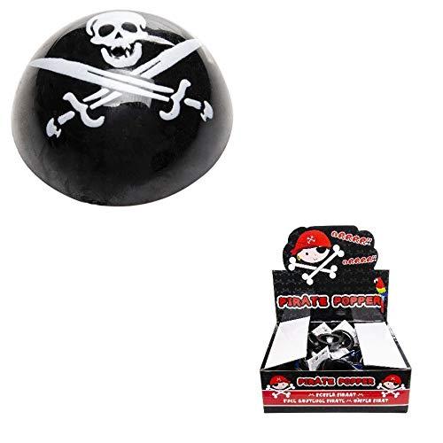 Les Colis Noirs LCN - Lot de 2 Puce Sauteuse 4,5 cm Pirate - Jeu Jouet Enfant Récréation Bondir - 556