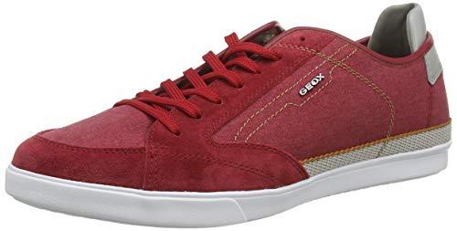 Geox Herren U Walee A Sneaker, Rot, 46 EU