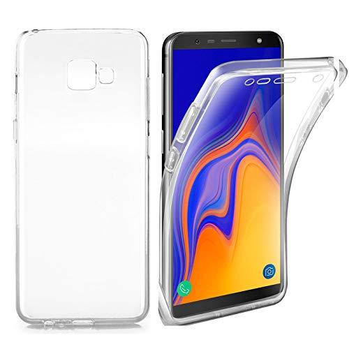 AURSTORE Coque Samsung Galaxy J4+Plus (2018) – Protection intégrale Avant + arrière en Rigide, Housse Etui Tactile 360 degré – Antichoc, Transparent J4+Plus(2018)