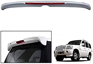 Device of Urban Infotech Premium OE Type Rear Car Spoilers for Mahindra Scorpio, Strong Build Quality, Car Accessories for Mahindra Scorpio, White OE Type Spoiler with Brake Lights -Diamond White