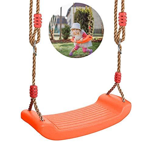 Sunshine smile Schaukel Outdoor Kinder,Turnringe Kinder,Multifunktions Kinderholz Trapez,Turnringe Holz mit Kunststoff Ringe (zuocheng)