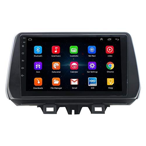 WWJL Aplicable a 19 Pulgadas Tucson 9 de Centro de Control de navegación Inteligente Android Gran Pantalla de Video modificada Tirar Todo en una Sola máquina con un Lector de Bluetooth,1 + 16