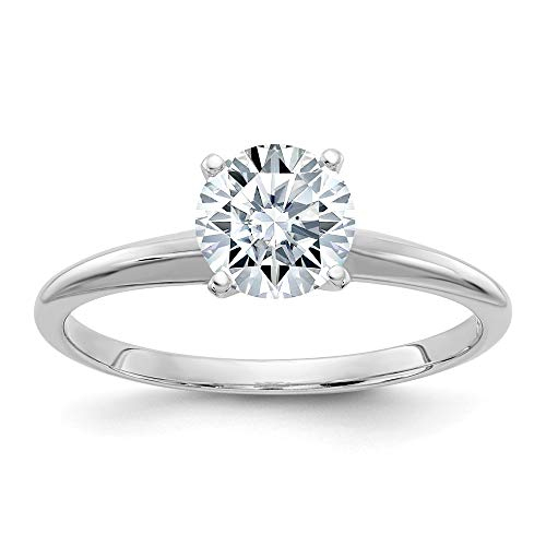 14k White Gold 3ct. D E F Pure Round Moissanite Solitaire Band Ring Engagement Gsh Gshx Fine Jewellery For Women Mothers Day Gifts For Her