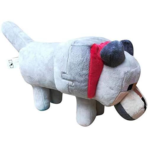 MMYZZAU Peluche de Lobo Feroz, Juguete de Felpa con Forma de Animal, decoración del hogar de muñecas, 35 cm Suave y cómodo