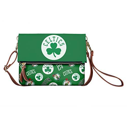 FOCO NBA Boston Celtics Womens Printed Collection Foldover Tote Bagprinted Collection Foldover Tote Bag, Team Color, One Size