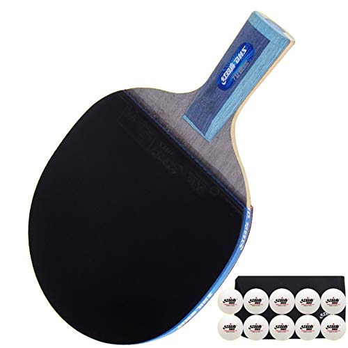 Fantastic Prices! SSHHI Advanced Table Tennis Racket Set,7 Layers of Wood with Table Tennis and Carr...