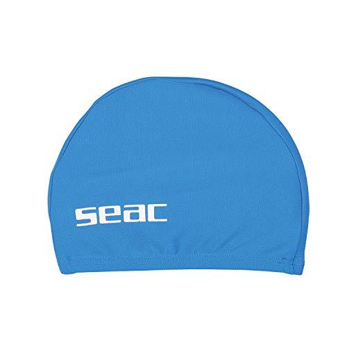 SEAC Lycra JR, Cuffia Nuoto da Piscina Tessuto Unisex Bambini, Blu, Small