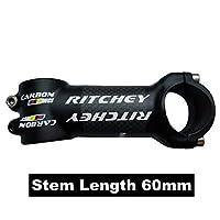 サイクリング部品マット3 3kカーボンファイバーを設定しマウンテンmtb自転車フラット/上昇ハンドルシートポストステムバーエンド-Stem 60mm