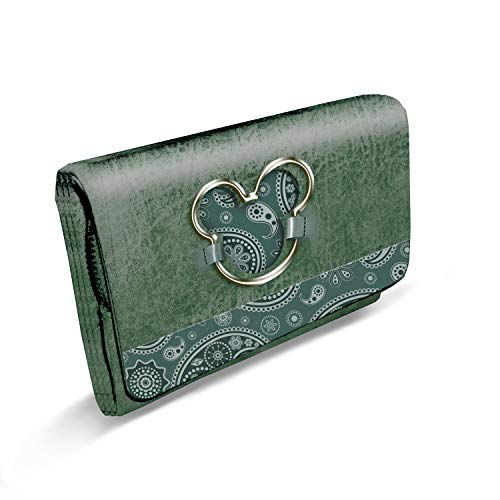 Karactermania Mickey Mouse Paisgreen-billetero Sweet Largo Münzbörse, 16 cm, Grün (Paisgreen)