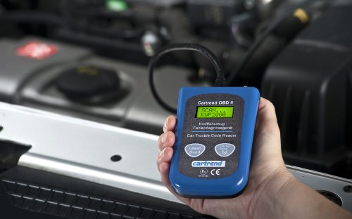 Cartrend 80234 Onboard-Diagnose Gerät OBD II, universelles Auto-Fehler-Diagnosegerät mit 8.000 Fehlercodes