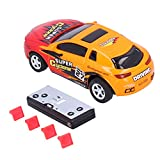 Sorandy RC Voiture Télécommandée - 2.4Ghz Mini Voiture de Course Télécommandée Jouet de Voiture électrique avec 2 Piles Rechargeables Meilleur Cadeau pour Enfants Adultes(Jaune)