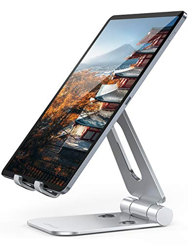 Lomicall 折り畳み式 スマホ タブレット 兼用スタンド ホルダー 角度調整 可能, iPad用 stand : 卓上縦置き...