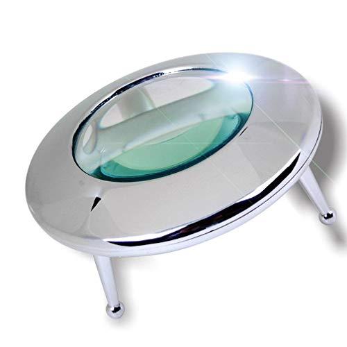 WY-YAN Lectura Lupa HD LED de 10 Veces de Aumento Material de Metal colocada Lectura Escritorio/Sello de identificación/Reparación Lupa
