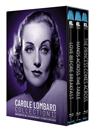 Top New Carole Lombard Collection II [Hands Across the Table / Love Before Breakfast / Princess Comes Across] [Blu-ray]