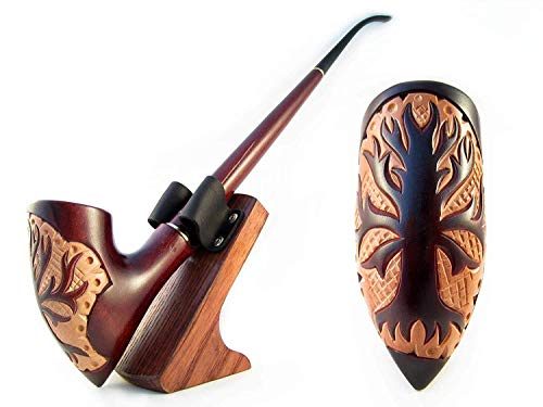 Fashion NEW Carved Pipe Churchwarden Smoking Tobacco Pipe Carved Nordic'TREE' 13 inch/33 cm. Exclusive Designed for Pipe Smokers