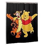 Winnie The Pooh Duschvorhänge Badezimmerdekor Wasserdichter Badvorhang aus Polyestergewebe 60 x 72 Zoll mit 12 Kunststoffhaken