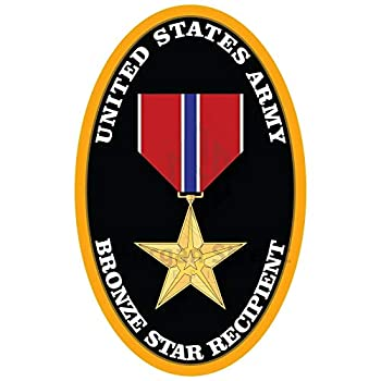 Sticker US Army Bronze Star Recipient Decal United States Military for Car Truck Window Laptop Bumper US Flag  6