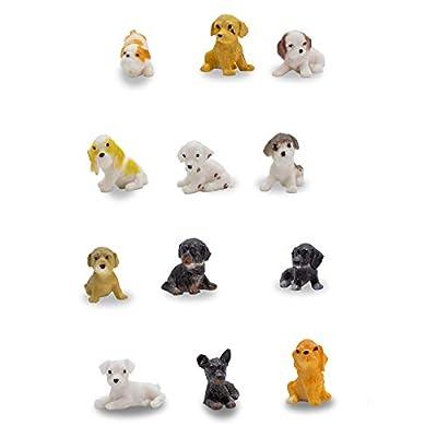 Windy City Novelties 24 Pack   Mini Toy Puppy Dog Figurines Pretend Play for Toddler & Kids   by Windy City Novelties