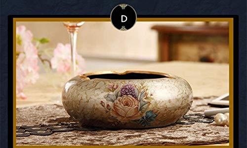 4 Patroon Europese klassieke luxe Resin asbak Partij van het Huis Bar Decoratie for Gift Aanstekers & Roken Accessoires ashtray (Color : D)