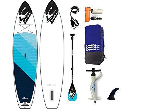 O';Neill 11';4 x 32 Aufblasbares SUP Stand Up Paddle Boarding Board, Paddel, Tasche & Leine/Gurt - Eva Diamond Deck Pad