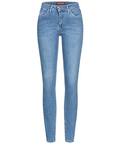 Rock Creek Damen Jeans Hose Skinny Jeanshose Designer Jeans Stonewashed Stretch Jeans Damenhose Damenjeans D-399 Vintage Blue W31 L32