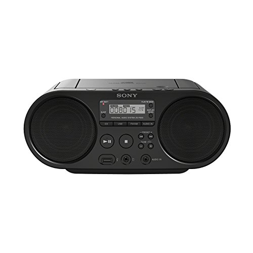 Sony ZS-PS50 4 W Negro – Radio CD (Am,FM, 87.5-108 MHz, 4 W, WMA,MP3, Negro, 3,5 mm)