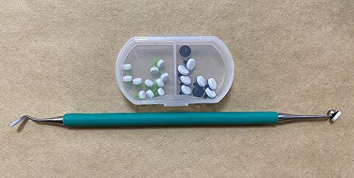 Mango rápido rápido de espuma para modelado de resina compuesta dental estilo optrasculpt (mango 1 + almohadilla 10 (mitad de cada uno))
