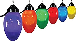 Polymer Products LLC 1661-10521 Giant Christmas Bulb Six Globe String Light Set (Packaging may vary)