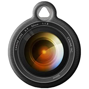 Dog Tag Art Camera Lens Pet ID Tag for Dogs and Cats Small Size