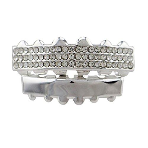 WanYang Diamant Eingelegt Zähne Grills Kit Hip Hop Stil Teeth Grills Neuheit Geschenk Für Halloween Verkleiden Sich