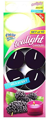 DecorRack Tealight Candles, Mulberry Scented, Pleasant Fragrance Candle, Air Freshener, Mulberry (10 Pack)