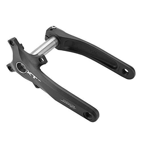 Crank Arm Aluminium Alloy 1 Pair BCD 104mm Crankset Repair Parts 4 Colors for Mountain Bike(Black)