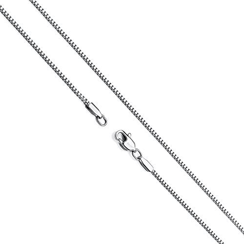 14K Gold Box Chain Necklace Women Men Pendant Made Thin For Charms, Strong plated Comes in Box GIFT with Lobster Clasp