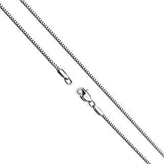 14K Gold Box Chain Necklace Women Men Pendant Made Thin For Charms, Strong, Comes in Box GIFT with Lobster Clasp