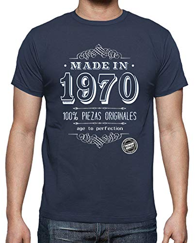 latostadora - Camiseta Made In 1970 para Hombre Denim XL