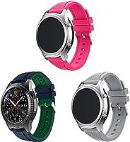 Arkgo コンパチブル Huawei Watch GT/GT 2e / GT 2 (46mm) 時計バンド、ソフトシリコン交換用リストバンド (22mm 3PCS B)