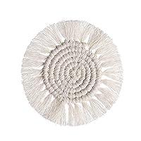絶縁クッション CZコットンロープ織り丸茶コースターホームステイデコレーション断熱環境保護テーブルマット