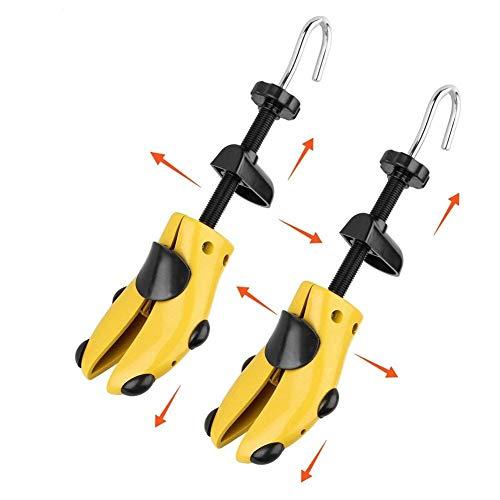 Albero scarpa in plastica,1 paio di scarpa regolabile albero scarpa regolabile con corno scarpa per uomo e donna, (giallo, 40-47)