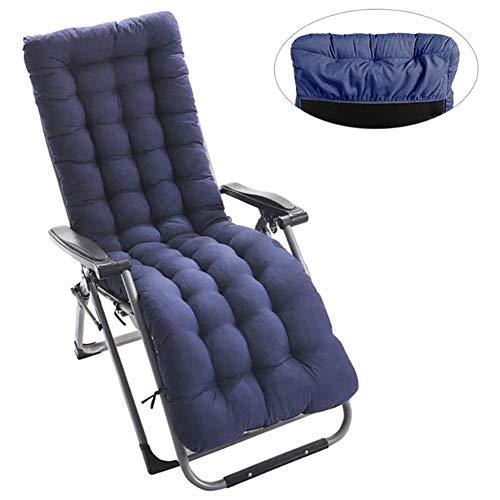 Sun Lounger Kissen, tragbare Gartenterrasse Dick gepolstertes Bett Recliner Relaxer Stuhl Sitzbezug für Reisen/Urlaub/Indoor/Outdoor, Sofastuhl mit weichem Stuhl