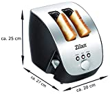 Edelstahl Toaster | 2 Scheiben Toaster | Design Toaster | Schräg Ttoaster | Toastautomat | Röstautomat | 1000 Watt | Edelstahl-Gehäuse | Stufenlos einstellbar | INOX-Design | - 4