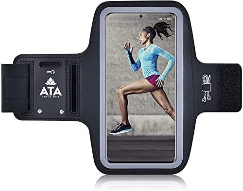 Brazalete Deportivo para iPhone 12/12 Pro / 11/11 Pro/SE 2020 / XR/XS/XS MAX/X, Antideslizante, Resistente al Sudor, con Ranuras para Llaves/Auriculares para teléfonos de hasta 6.1 Pulgadas