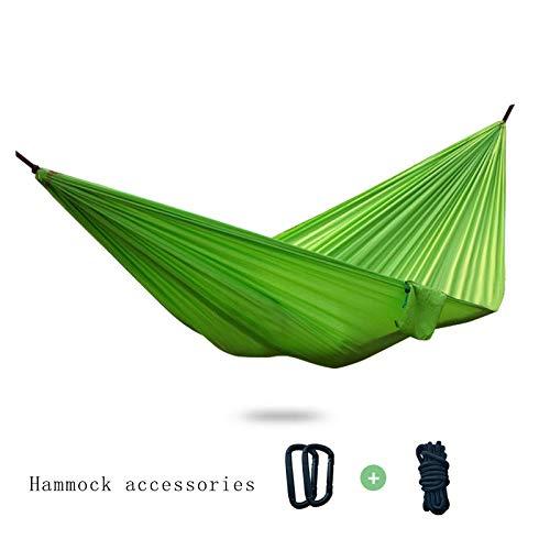 ZCXBHD Enkel/Dubbele Outdoor Tuin Camping Hangmat,1/2 Persoon Hangmat Katoen Zachte Swing Slapen Draagbaar Voor Patio Yard Tuin Achtertuin Veranda Reizen (270 * 140)
