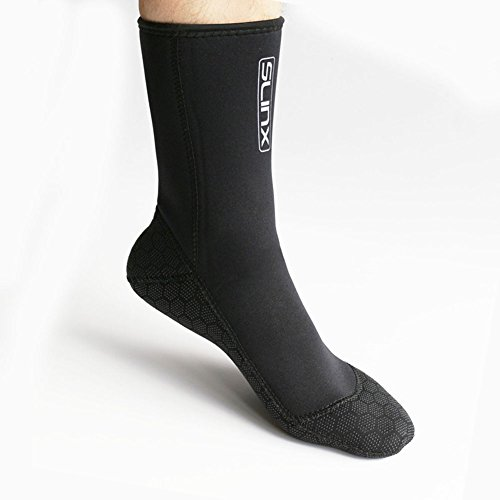 Neoprene Water Fin Sock Diving Wetsuits Sock 3MM for Women Men, Thermal Beach Sock Anti Slip Flexible for Snorkeling Surfing Kayaking Swimming Sailing Diving (L)