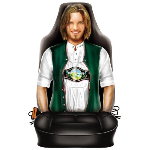Autositzbezug - Bayer - Bayrischer Mann in Tracht - lustiger Sitzbezug mit Motiv - ein Hingucker mit Humor für Ihr Auto