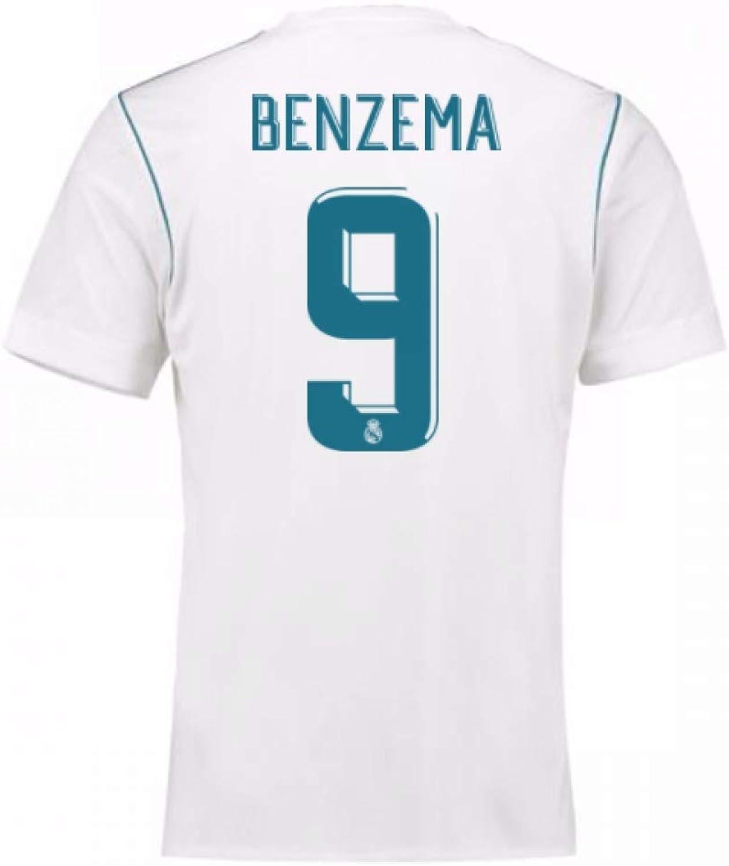 2017-18 Real Madrid Home Shirt - Kids (Benzema 9)