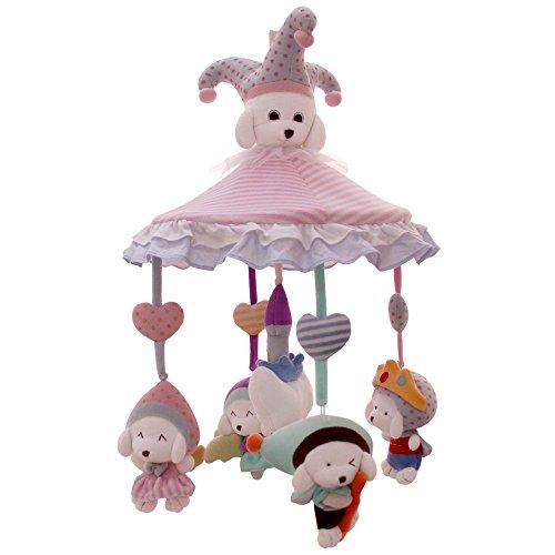 SHILOH - Móvil para bebé recién nacido con caja musical y soporte Puppy Triangle