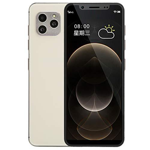 Dpofirs S11S Mini 4,82 Pulgadas Smartphone Dorado de Red Completo 4G, Teléfono Inteligente Libre de Dual Tarjeta y Dual Modos de Espera, 800 W +1300 W Cámara Dual Trasera y Frontal(3+32g)